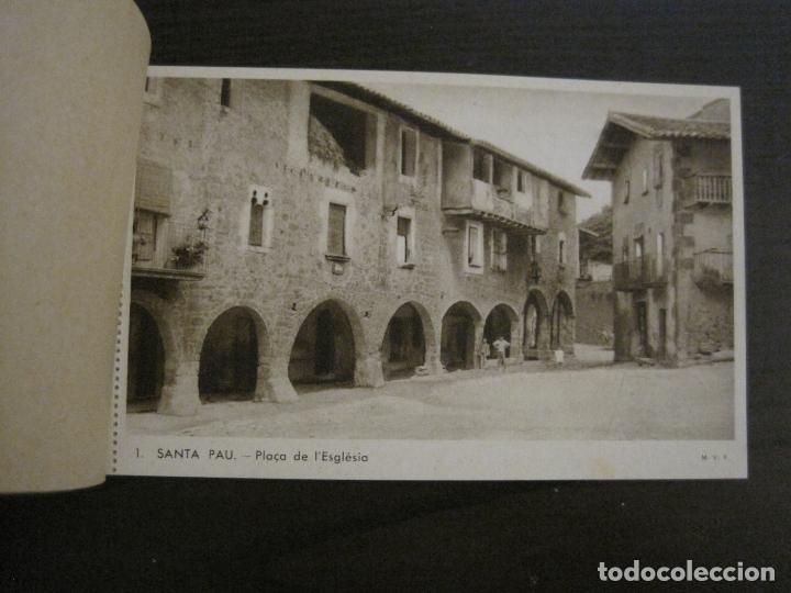 Postales: SANTA PAU-GIRONA-BLOC AMB 6 POSTALS-HUECOGRABADO RIEUSSET-VEURE FOTOS-(60.896) - Foto 2 - 169339536