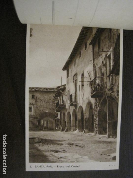 Postales: SANTA PAU-GIRONA-BLOC AMB 6 POSTALS-HUECOGRABADO RIEUSSET-VEURE FOTOS-(60.896) - Foto 3 - 169339536