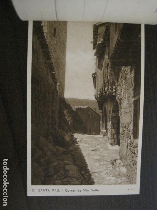 Postales: SANTA PAU-GIRONA-BLOC AMB 6 POSTALS-HUECOGRABADO RIEUSSET-VEURE FOTOS-(60.896) - Foto 4 - 169339536