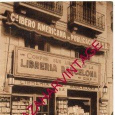 Postales: POSTAL COMERCIO, PUBLICIDAD LIBRERIA BARCELONA , ORIGINAL . Lote 169342640