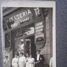 Postales: CATALUÑA RARÍSIMA POSTAL FOTOGRÁFIC PUBLICITARIA PANADERÍA MANUEL FARRÉ. Lote 169501617