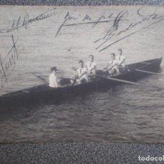 Postales: CATALUÑA BARCELONA REGATAS 1908 RARÍSIMA POSTAL FIRMAS MANUSCRITAS GOLA BARCINO. Lote 169501924