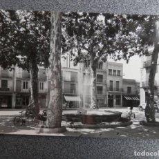 Postales: GRANOLLERS PLAZA DE PERPIÑAN POSTAL FOTOGRÁFICA ANTIGUA. Lote 169502164
