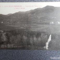 Postales: SANT JUAN DE LAS ABADESAS CARRETERA DE CAMPRODON POSTAL ANTIGUA. Lote 169502260