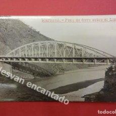 Postales: MARTORELL. PONT DE FERRO SOBRE EL LLOBREGAT. FOT. TRULLAS. POSTAL FOTOGRÁFICA. Lote 169779528