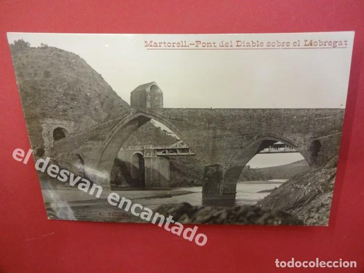 MARTORELL. PONT DEL DIABLE SOBRE EL LLOBREGAT. FOT. TRULLAS. POSTAL FOTOGRÁFICA (Postales - España - Cataluña Antigua (hasta 1939))