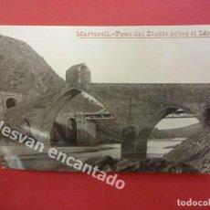 Postales: MARTORELL. PONT DEL DIABLE SOBRE EL LLOBREGAT. FOT. TRULLAS. POSTAL FOTOGRÁFICA. Lote 169779612