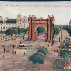 Postales: POSTAL BARCELONA - TRIUMPHAL ARCH AND PALACE OF JUSTICE . Lote 169882212