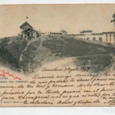 Postales: TARJETA POSTAL. BARCELONA. CUMBRE DEL TIBIDABO. 1903. HAUSER MENET. Lote 170953918