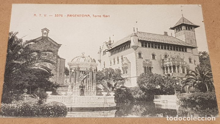 A.T.V. - 3376 / ARGENTONA / TORRE GARI / SIN CIRCULAR NI ESCRIBIR / DE LUJO. (Postales - España - Cataluña Antigua (hasta 1939))