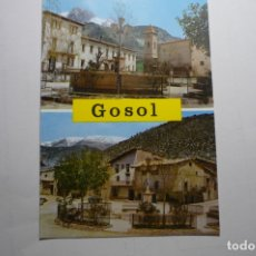 Postales: POSTAL GOSOL- LERIDA PL.MAYOR. Lote 171207928
