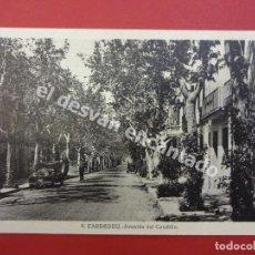 Postales: CARDEDEU. AVENIDA DEL CAUDILLO. Lote 171348248