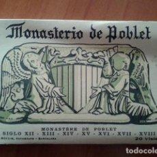 Postales: 20 POSTALES MONASTERIO DE POBLET. Lote 171361123