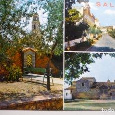 Postales: POSTAL SALOMO -PROV.TARRAGONA DIVERSOS ASPECTOS-ESCRITA. Lote 171439717