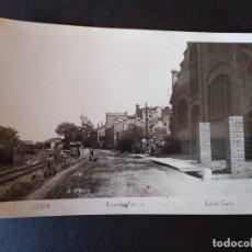 Postales: CELRA GERONA ESTACION FERROCARIL EDICION CAROS. Lote 171457357