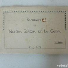 Postales: ÁLBUM POSTAL - SANTUARIO DE NUESTRA SEÑORA DE LA GLEVA 1ª SERIE - HUECOGRABADO FOURNIER, VICTORIA. Lote 171476864