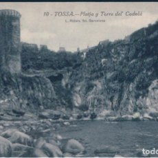 Postales: POSTAL TOSSA - PLATJA Y TORRE DEL CODOLA - ROISIN. Lote 171506288