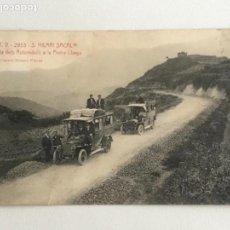 Postales: POSTAL DE SAN HILARI DE SACALM- ARRIBADA DEL AUTOMOVILS PEDRA LLARGA. A.T.V 2953 XIMENO PLANAS. . Lote 171515647