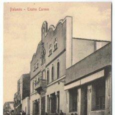 Postales: POSTAL PALAMÓS TEATRO CARMEN . Lote 171526777