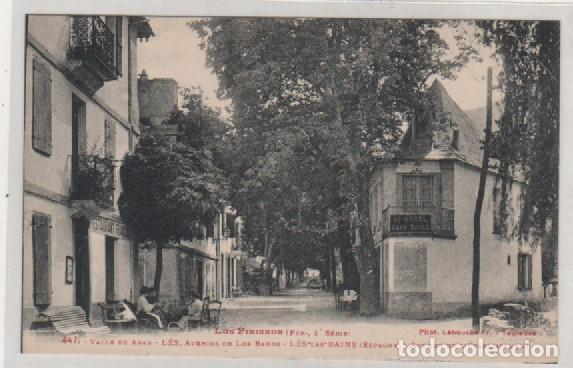 LOS PIRINEOS, 1ª SERIE. VALLE DE ARAN 447 LES AVENIDA DE LOS BAÑOS. (Postales - España - Cataluña Antigua (hasta 1939))