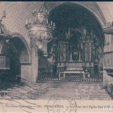 Postales: POSTAL PUIGCERDA - INTERIEUR DE L'EGLISE SAINTE MARIE - PYRENEES ORIENTALES - CIRCULADA . Lote 171583790