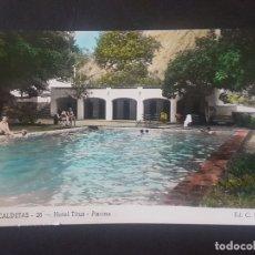 Postales: CALDETAS BARCELONA HOTEL TITUS PISCINA. Lote 171591835