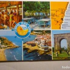 Postales: POSTAL CAMPING PLAYA BARA-RODA DE BARA--DORSO PUBLICIDAD. Lote 171636298