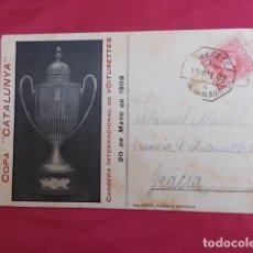 Postales: ANTIGUA POSTAL. COPA CATALUNYA , CARRERA INTERNACIONAL DE VOITURETTES 1909. CIRCUITO BAJO PENEDÉS. Lote 191430558