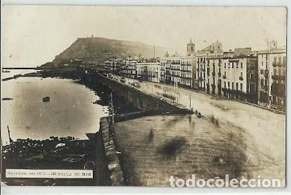 ANTIGUA POSTAL BARCELONA AÑO 1870 MURALLA DE MAR (Postales - España - Cataluña Antigua (hasta 1939))
