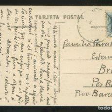 Postales: EL BRULL - ESTANYOL, COMARCA DE OSONA. TARJETA POSTAL DIRIGIDA A LA FAMILIA SERRAHIMA.. Lote 173130762