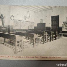 Postales: POSTAL SALON DE ESTUDIO. BARCELONA. Lote 173168178