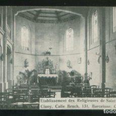 Postales: BARCELONA. *RELIGIEUSES DE SAINT JOSEPH DE CLUNY* CIRCULADA 1914.. Lote 3605266