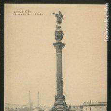 Postales: BARCELONA. *MONUMENTO A COLÓN* ED. MISSÉ HNOS. NUEVA.. Lote 9014034