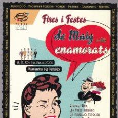 Postales: CATALUNYA - FIRES I FESTES DE MAIG O DELS ENAMORATS 2001 - VILAFRANCA PENEDÈS. Lote 174096658