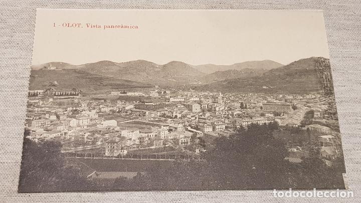 OLOT - 1 / VISTA PANORÁMICA / EDIT: J. ANTIGA / SIN CIRCULAR. DE LUJO. (Postales - España - Cataluña Antigua (hasta 1939))