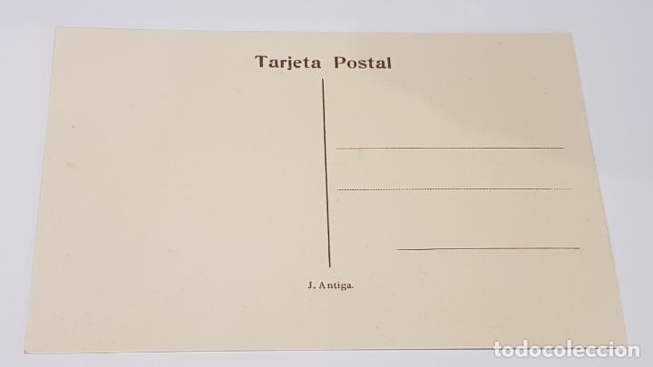 Postales: OLOT - 10 / PLAÇA DE ALFONSO XII / EDIT: J. ANTIGA / SIN CIRCULAR. DE LUJO. - Foto 2 - 174330915