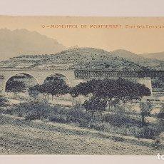 Postales: MONISTROL DE MONTSERRAT - 10 / PONT DELS FERROCARRILS CATALANS / EDIT: ALFARA / SIN CIRCULAR.. Lote 174374204