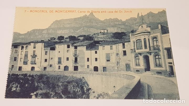 MONISTROL DE MONTSERRAT - 7 / CARRER DE VISERTA . CASA DEL SR. JUNCÀ / EDIT: ALFARA / SIN CIRCULAR. (Postales - España - Cataluña Antigua (hasta 1939))