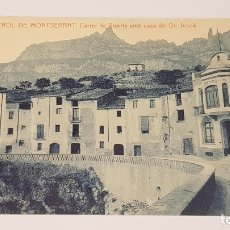 Postales: MONISTROL DE MONTSERRAT - 7 / CARRER DE VISERTA . CASA DEL SR. JUNCÀ / EDIT: ALFARA / SIN CIRCULAR.. Lote 174374757