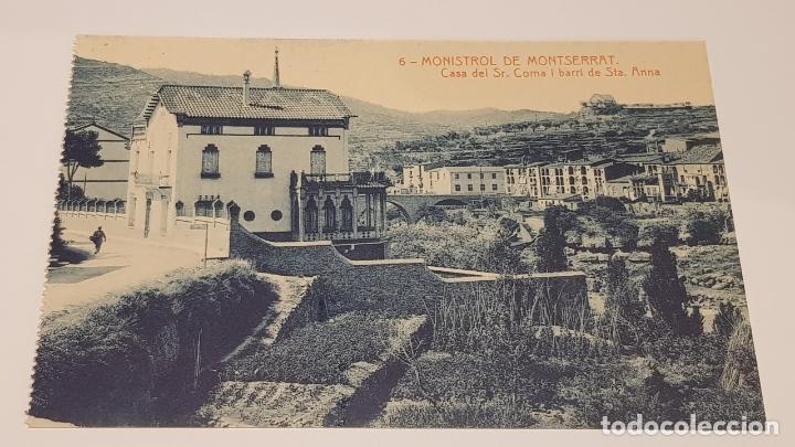 MONISTROL DE MONTSERRAT - 6 / CASA SR. COMA I BARRI STA. ANNA / EDIT: ALFARA / SIN CIRCULAR. (Postales - España - Cataluña Antigua (hasta 1939))