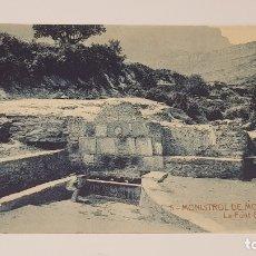 Postales: MONISTROL DE MONTSERRAT - 5 / LA FONT GRAN / EDIT: ALFARA / SIN CIRCULAR.. Lote 174375312