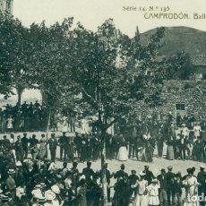 Postales: GIRONA CAMPRODON. BALLANT SARDANES CIRCULADA EN 1909.. Lote 174409514