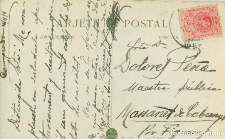 Postales: GIRONA CAMPRODON. BALLANT SARDANES CIRCULADA EN 1909. - Foto 2 - 174409514