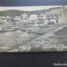 Postales: PORT DE LA SELVA GERONA GIRONA VISTA PARCIAL Y LA PLAYA POSTAL FOTOGRAFICA AÑOS 20 V. FARGNOLI FOTOG. Lote 174885342