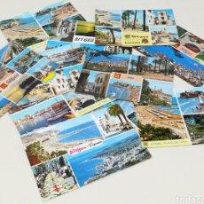 Postales: LOTE 12 POSTALES, SITGES, COSTA DORADA.. Lote 174978724