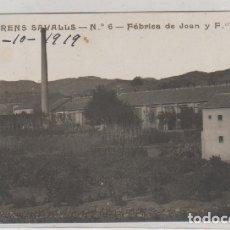 Postales: POSTAL FOTOGRÁFICA SAN LLORENS SAVALLS Nº 6 FÁBRICA DE JOAN Y FRANCISCO AGUILAR. CIRCULADA.. Lote 175116153