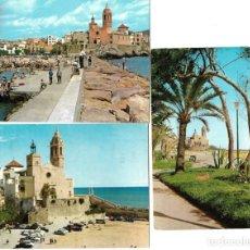 Postales: LOTE 3 POSTALES DE SITGES , DOS CIRCULADAS - EDITADAS POR R. GASSÓ. Lote 175124148