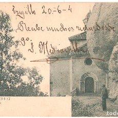 Postales: TARJETA POSTAL, MONTSERRAT: LA SANTA CUEVA./ Nº 529./ LB-BARCELONA./ ESCRITA EN 1904. Lote 175712947