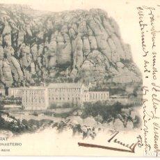 Postales: TARJETA POSTAL, MONTSERRAT: EL MONASTERIO./ HAUSER Y MENET Nº 690./ ESCRITA EN 1903.. Lote 175714450