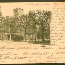 Postales: TARJETA POSTAL,BARCELONA: ESCUELA MUNICIPAL DE MÚSICA./ HAUSER Y MENET Nº 257./ ESCRITA EN 1907.. Lote 175716192